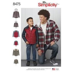 Hætteskjorte og skjorte simplicity snitmønster