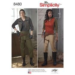 Voksen kostume bukser, pistolbælt og vest simplicity snitmønster