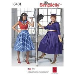 Voksen kostume kjole også plusmode simplicity snitmønster 8481