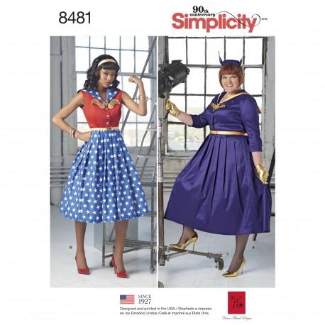 91295ae7 Voksen kostume kjole superhelte simplicity snitmønster også plusmode ...