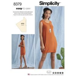 Kjole/tunika simplicity snitmønster easy 8379