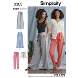Bukser og shorts simplicity snitmønster easy 8389