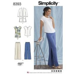Top, tunika bukser og cardigan også plusmode simplicity snitmønster