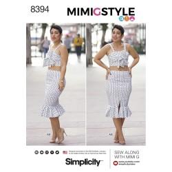 Top og nederdel også plusmode simplicity snitmønster