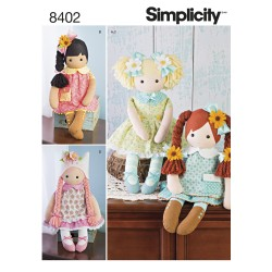 Dukke m/tøj simplicity snitmønster 8402