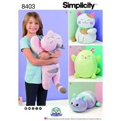 Tøj dyr kat simplicity snitmønster 8403