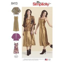 Kjole og kort jakke simplicity snitmønster