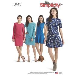 Kjole også plusmode simplicity snitmønster