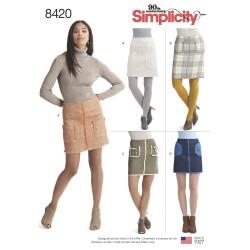 Kort nederdel simplicity snitmønster