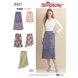 Nederdel også plusmode simplicity snitmønster