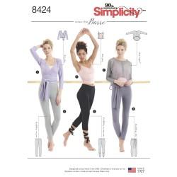 Leggings m/bånd og top simplicity snitmønster