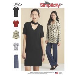 Kjole tunika og bukser simplicity snitmønster