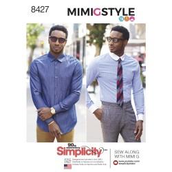 Herreskjorte MimiGstyle simplicity snitmønster 8427