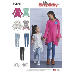 Tunika og leggings pigetøj simplicity snitmønster