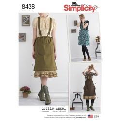 Nederdel m/seler og skørt simplicity snitmønster
