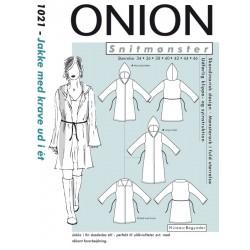 Jakke m/krave /hætte Onion snitmønster