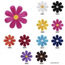 Blomst Ø 6 cm broderet strygemærke