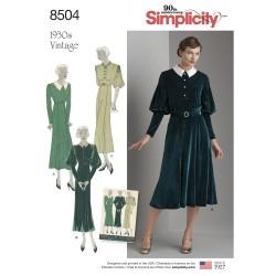 Vintage 1930érne Kjole snitmønster