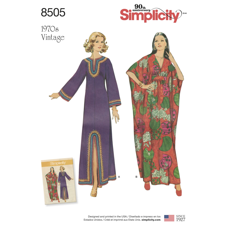 b745560c 1970`er kjole maxi kjole snitmønster