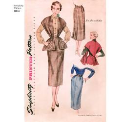 1950èrne vintage nederdel og stola også plusmode snitmønster simplicity 8507