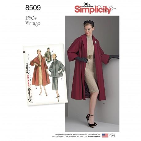 1950`erne vintage Jakke og frakke snitmønster Simplicity 8509