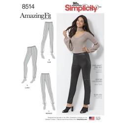 Lange bukser AmazingFit snitmønster simplicity 8514