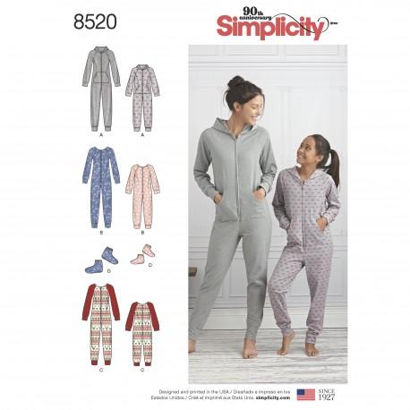 a72b57398a5 Jumpsuit til mor og datter snitmønster simplicity 8520