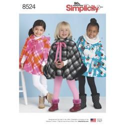 Poncho pigetøj snitmønster simplicity 8524