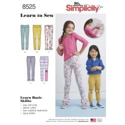 Leggings til piger snitmønster Simplicity 8525