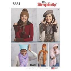 Huer og tørklæder snitmønster simplicity 8531