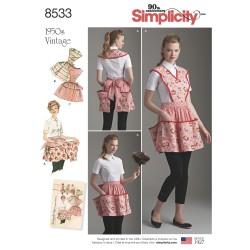 1950èrne vintage forklæde m/løs top snitmønster Simplicity 8533