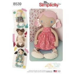 Slaske dukke og tøj ca.38 cm høj snitmønster