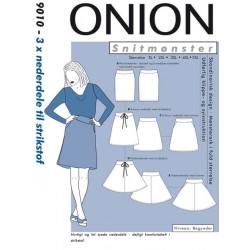 Nederdel til strikstof Onion 9010 snitmønster