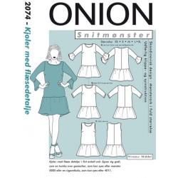 Kjoler m/ flæsedetalje Onion snitmønster