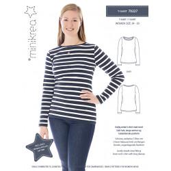 Dame T-shirt også plusmode Minikrea snitmønster