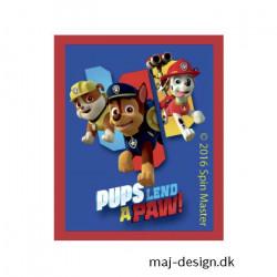 Paw Patrol strygemærke 5,5 x 6,5cm