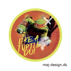 Teenage Mutant Ninja Turtles strygemærke Ø 6,5 cm