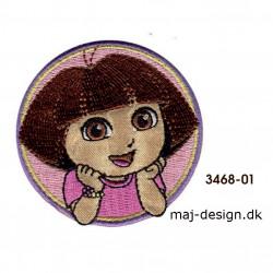 Dora the explorer broderet strygemærke Ø 6 cm