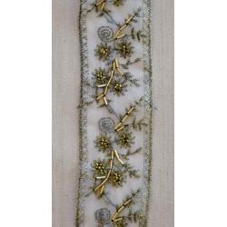 Guld bånd m/ Perler, 55mm