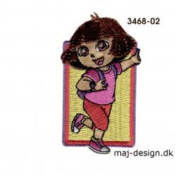 Dora the explorer broderet strygemærke 4 x 6,7 cm
