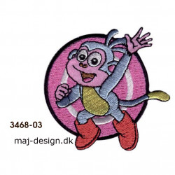 Dora the explorer broderet strygemærke 6 x 6 cm
