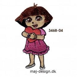 Dora the explorer broderet strygemærke 4,5 x 7,5 cm