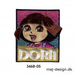 Dora the explorer broderet strygemærke 5,5 x 6 cm