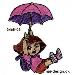 Dora the explorer broderet strygemærke 3468-06