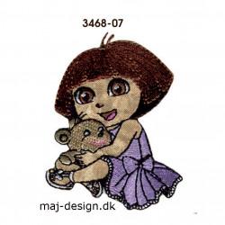 Dora the explorer broderet strygemærke 6 x 7 cm