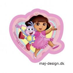 Dora the explorer strygemærke 6,5 x 6,5 cm
