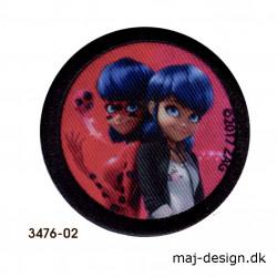 Lady Bug & Cat Noir Broderet strygemærke 3476-02