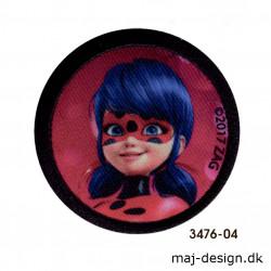 Lady Bug Mariehønen broderet strygemærke 3476-04