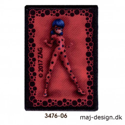 Lady Bug Mariehønen broderet strygemærke 3476-06