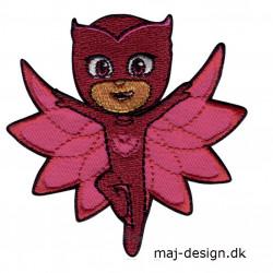 Pj Masks Owlette broderet strygemærke 8 x 8 cm 3472-03